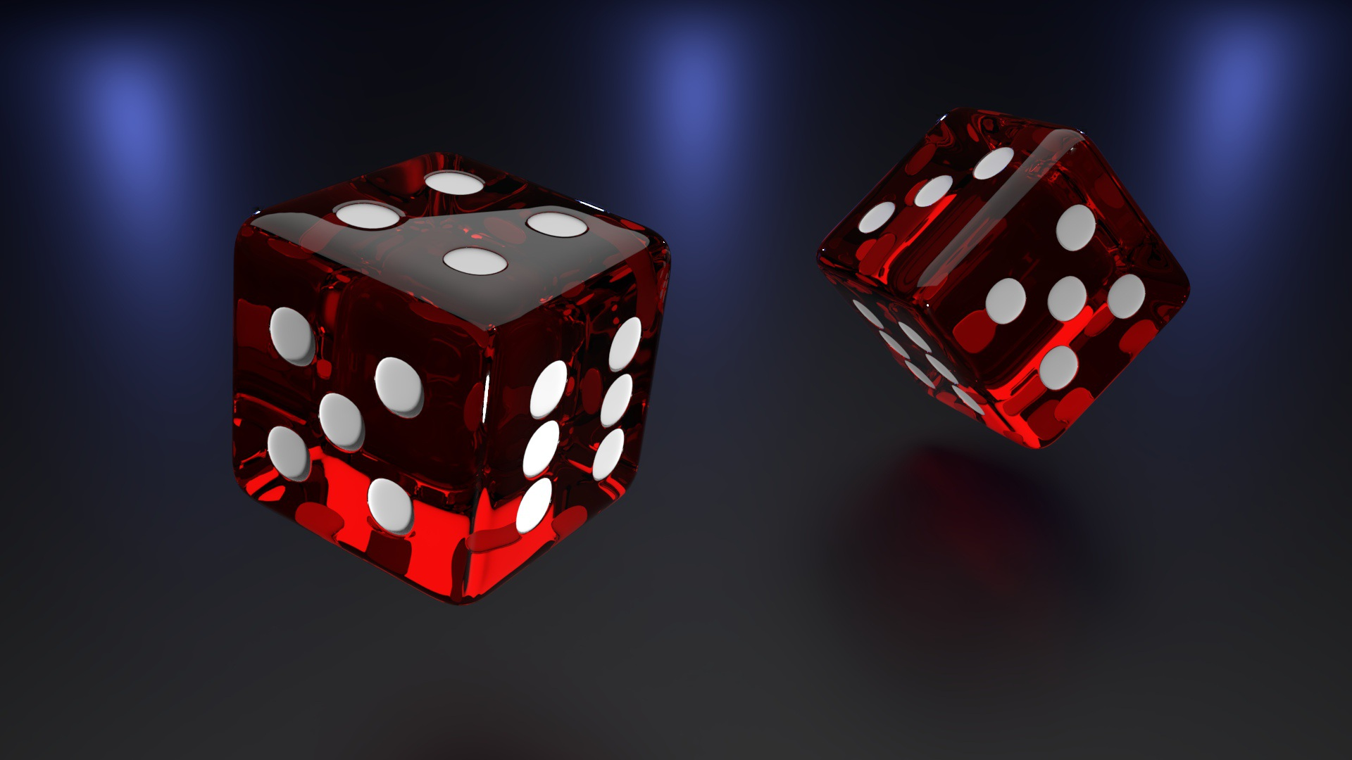 two playing dices